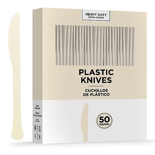 Vanilla Cream Heavy-Duty Plastic Knives, 50ct Image #1