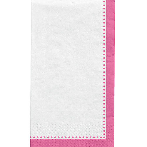 Bright Pink Premium Paper Buffet Napkins, 4.5in x 7.75in, 20ct Image #1