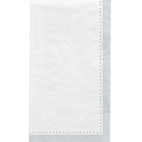 Silver Premium Paper Buffet Napkins, 4.5in x 7.75in, 20ct Image #1