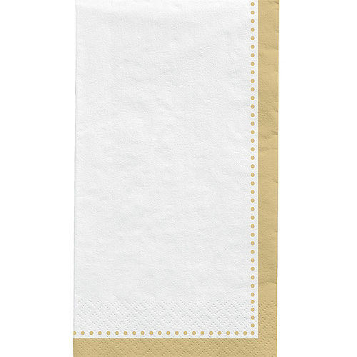 Gold Premium Paper Buffet Napkins, 4.5in x 7.75in, 20ct Image #1