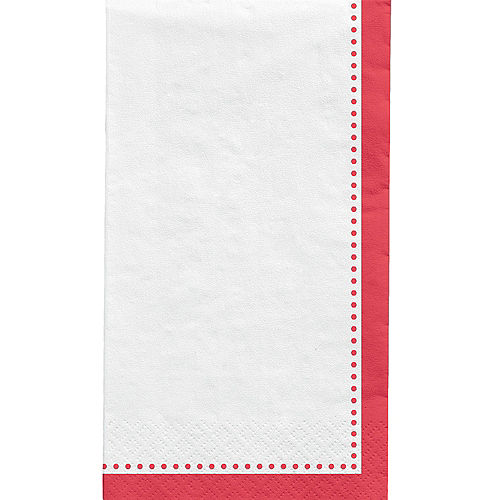 Red Premium Paper Buffet Napkins, 4.5in x 7.75in, 20ct Image #1