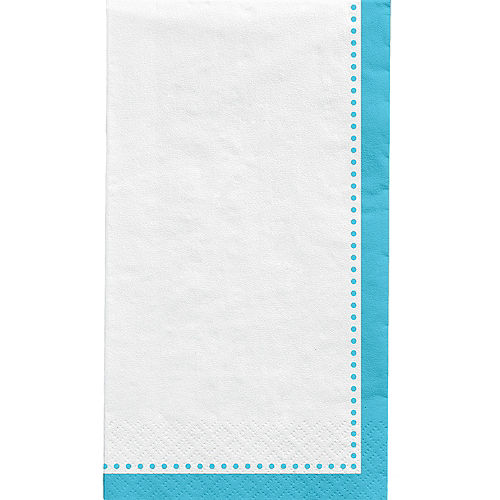 Caribbean Blue Premium Paper Buffet Napkins, 4.5in x 7.75in, 20ct Image #1