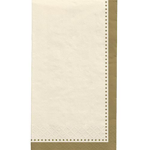 Vanilla Cream Premium Paper Buffet Napkins, 4.5in x 7.75in, 20ct Image #1