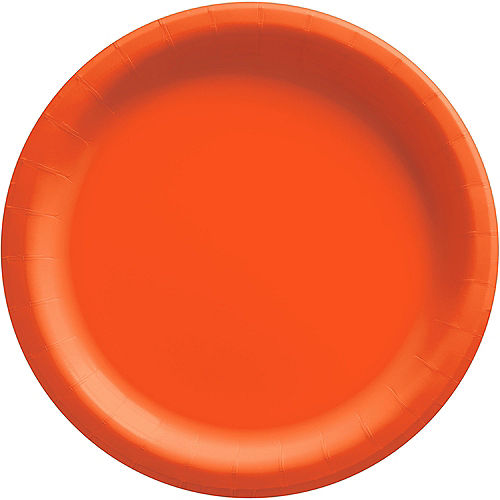 Orange Extra Sturdy Paper Dinner Plates, 10in, 20ct Image #1