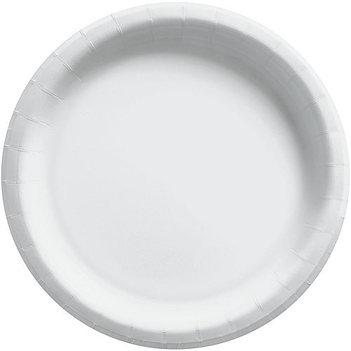 White Extra Sturdy Paper Dinner Plates, 10in, 20ct Image #1