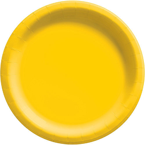 Yellow Extra Sturdy Paper Dinner Plates, 10in, 20ct Image #1