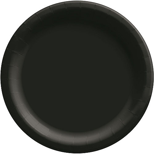 Black Extra Sturdy Paper Dinner Plates, 10in, 20ct Image #1