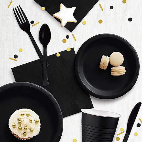 Black Extra Sturdy Paper Dinner Plates, 10in, 20ct Image #2