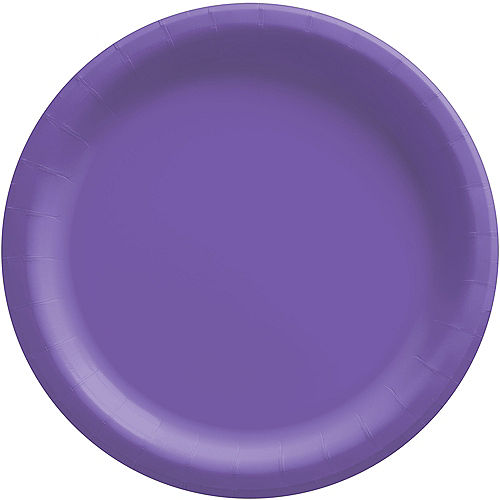Purple Extra Sturdy Paper Dinner Plates, 10in, 20ct Image #1
