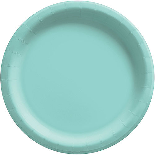 Robin's Egg Blue Extra Sturdy Paper Dinner Plates, 10in, 20ct Image #1