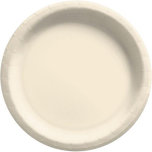 Vanilla Cream Extra Sturdy Paper Dinner Plates, 10in, 20ct Image #1