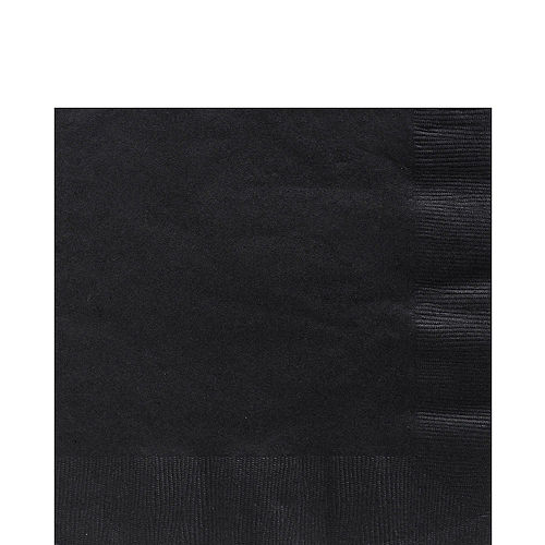 Black Paper Lunch Napkins, 6.5in, 100ct Image #1