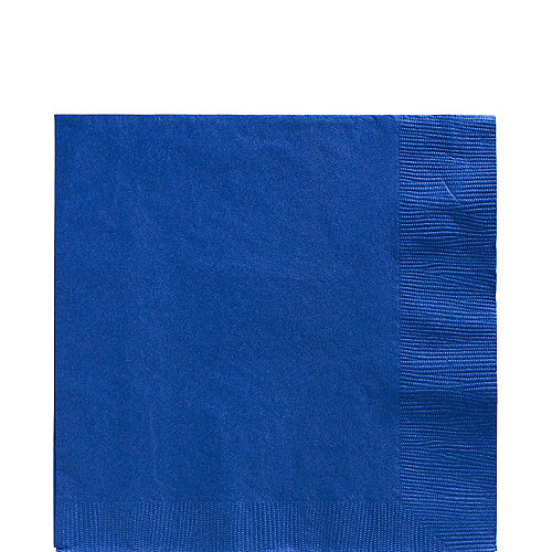 Royal Blue Paper Lunch Napkins, 6.5in, 100ct Image #1