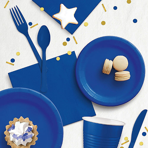 Royal Blue Paper Lunch Napkins, 6.5in, 100ct Image #3