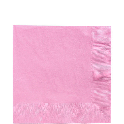 Pink Paper Lunch Napkins, 6.5in, 100ct Image #1