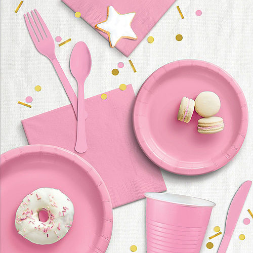 Pink Paper Lunch Napkins, 6.5in, 100ct Image #3