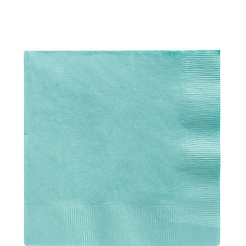 Robin's Egg Blue Paper Lunch Napkins, 6.5in, 100ct Image #1