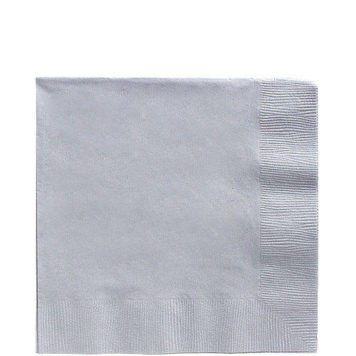 Silver Paper Lunch Napkins, 6.5in, 100ct Image #1