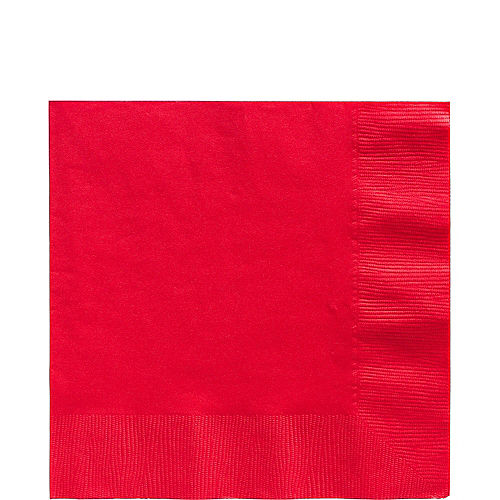 Red Paper Lunch Napkins, 6.5in, 100ct Image #1
