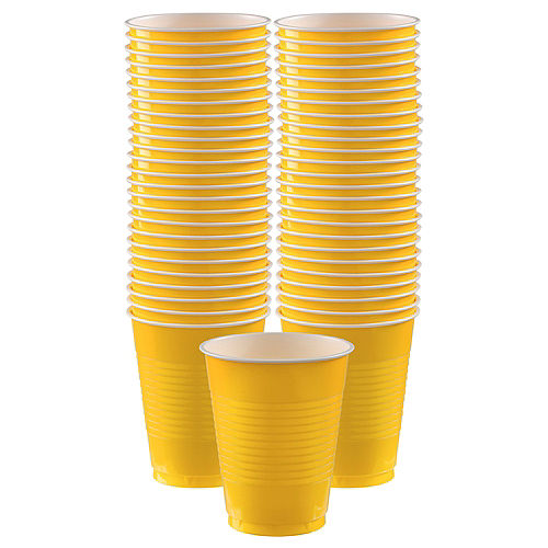 Yellow Plastic Cups, 18oz, 50ct Image #1