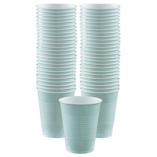 Robin's Egg Blue Plastic Cups, 18oz, 50ct Image #1