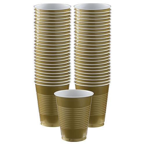 Gold Plastic Cups, 18oz, 50ct Image #1