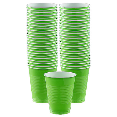 Kiwi Green Plastic Cups, 18oz, 50ct Image #1