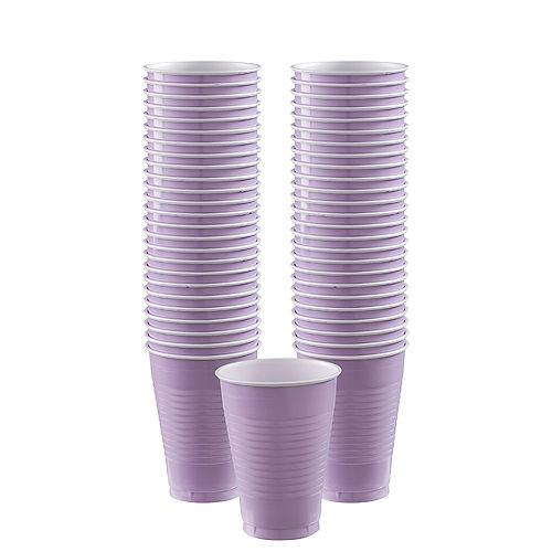 Lavender Plastic Cups, 12oz, 50ct Image #1
