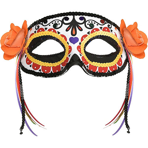 Day of the Dead Calavera Fabric Eye Mask Image #1