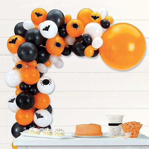 Air-Filled Bats & Spiders Halloween Balloon Garland Kit Image #1