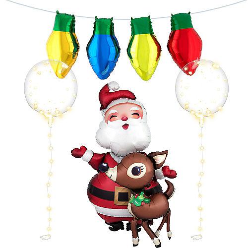 Santa's Christmas Lights Balloon Kit, 7pc Image #1