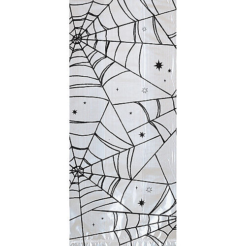 Large Spiderweb Halloween Cellophane Treat Bags with Twist Ties, 5in x 11.5in, 20ct Image #1