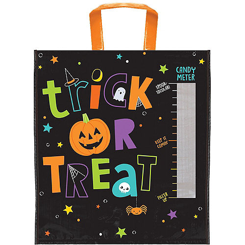 Candy Meter Plastic Trick-or-Treat Bag, 14in x 15.5in Image #1