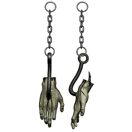 Hooked Bloody Zombie Hand Plastic Hanging Decoration, 12.5in Image #1