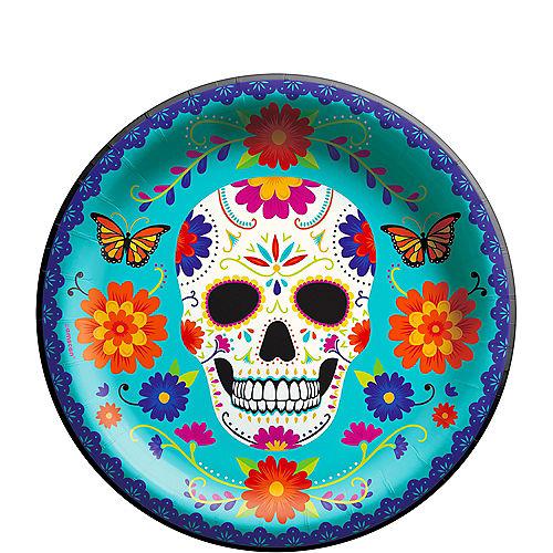 Dia de Los Muertos Sugar Skull Paper Dinner Plates, 10in, 20ct Image #1
