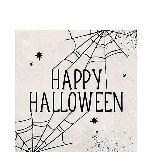 Spiderweb Night Halloween Paper Lunch Napkins, 6.5in, 40ct Image #1