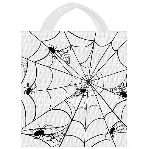 Spiderweb Canvas Trick-or-Treat Bag, 13.5in x 14.75in Image #1