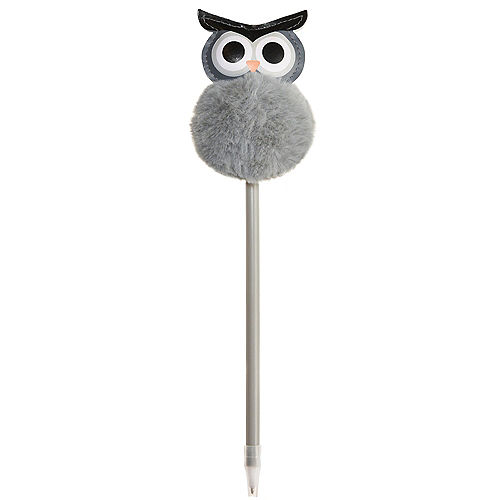 Halloween Puffy-Topped Owl Yarn & Plastic Pen, 2.75in x 7.9in Image #1