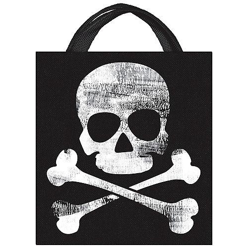 Skull & Crossbones Jolly Roger Fabric Trick-or-Treat Bag, 13.5in x 14.75in Image #1