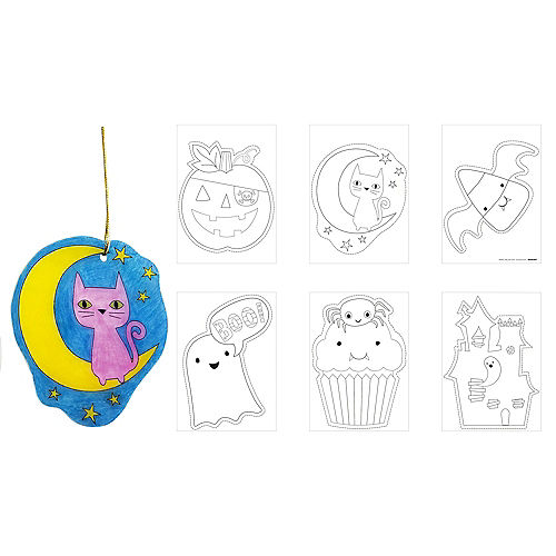 Halloween Shrink Art Plastic Craft Kit, 6pc Image #1