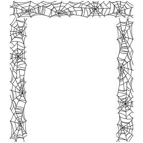 Classic Black & White Spiderweb Plastic Scene Setter Add-Ons, 5.4ft x 5.4ft Image #2