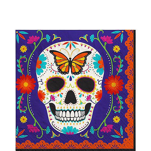 Dia de los Muertos Sugar Skull Paper Lunch Napkins, 6.5in, 40ct Image #1