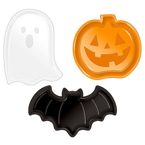 Family Friendly Halloween-Shaped Plastic Plates, 3ct Image #1
