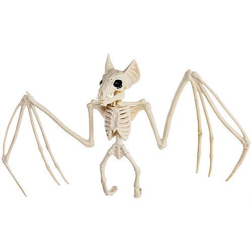 Bat Skeleton Plastic Hanging Decoration, 11.5in x 6.5in Image #1