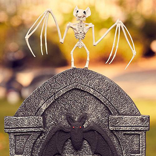Bat Skeleton Plastic Hanging Decoration, 11.5in x 6.5in Image #2