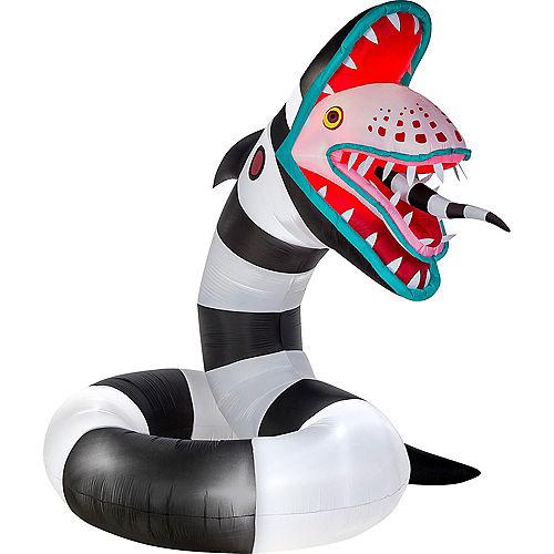 Light-Up Animated Sandworm Inflatable Yard Decoration, 10ft - Beetlejuice Image #2