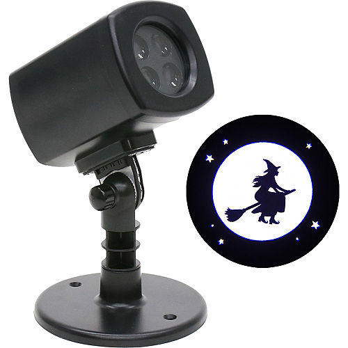 Animated Witch Over Moon Motion Projector, 4in x 7in Image #1