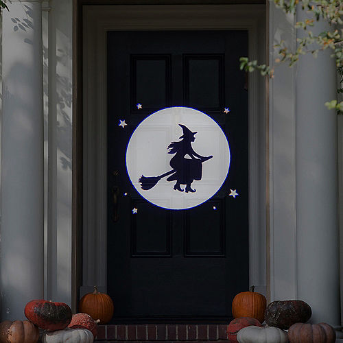 Animated Witch Over Moon Motion Projector, 4in x 7in Image #2