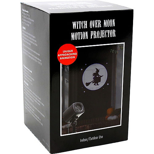 Animated Witch Over Moon Motion Projector, 4in x 7in Image #4