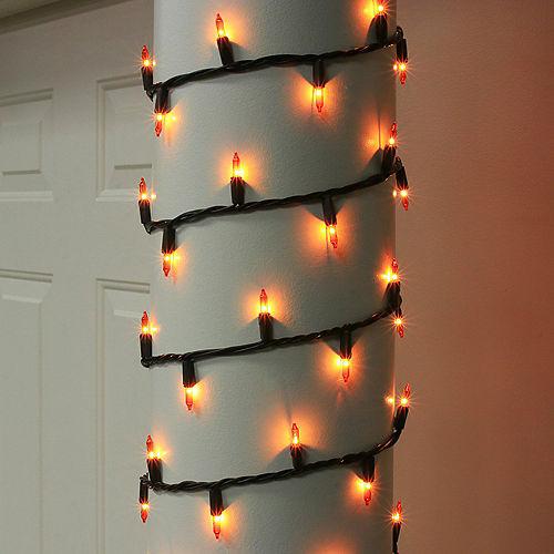Orange Incandescent Plastic String Lights, 100 Bulbs, 21ft Image #2